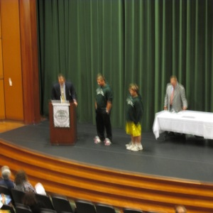 Ricky in the yellow shorts at the Awards Ceremony