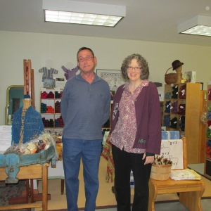 GARY AND LIZ WITH ALL THAT BEAUTIFUL WOOL