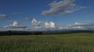 Beautiful clouds and a view to New Hampshire