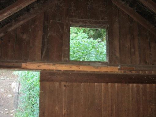 Jewel week through the barn window at least 12 feet high.