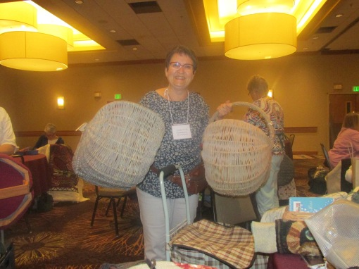 Louise is going home with these lovely handmade baskets .