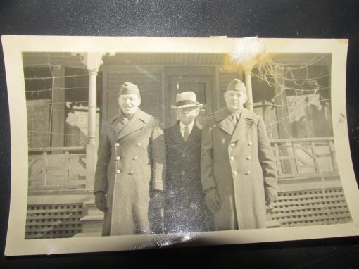 My Dad on the left My Grandfather in the middle and my Uncle Roger on the right 1943